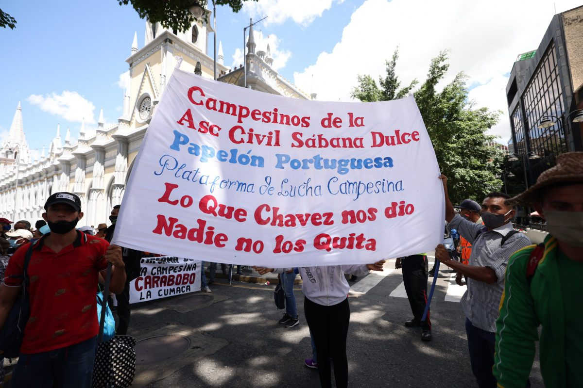 Rural workers have denounced ongoing efforts by the country's business sector to reform Hugo Chávez's Land Law